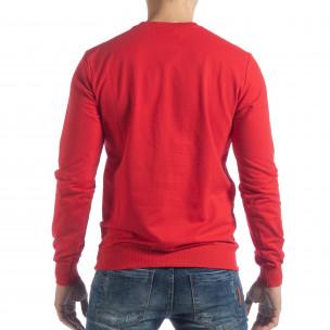Bluză Basic roșie pentru bărbați 2