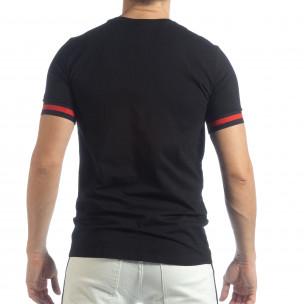 Tricou pentru bărbați negru Heraldic  2