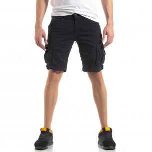 Pantaloni scurți bărbați Y-Chromosome albaștri 2