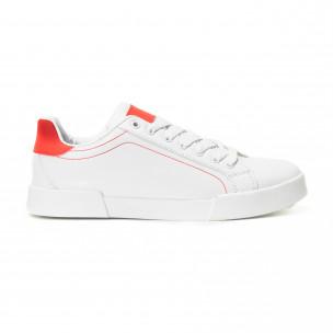 Teniși albi Basic cu părți roșii pentru bărbați