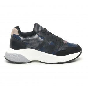 Pantofi sport ușori de dama cu imprimeu metalic