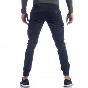 Pantaloni cargo albastru cu fermoar la glezna pentru bărbați   2