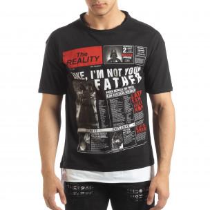 Tricou negru Darth Vader pentru bărbați