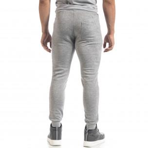 Pantaloni de trening gri de bărbați Biker style 2