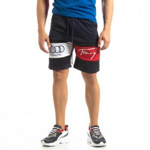 Pantaloni scurți de sport albaștri GOOD pentru bărbați