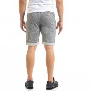 Pantaloni scurți bărbați Alpini Firenze gri  2