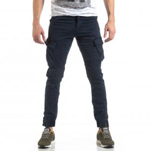 Pantaloni cargo bărbați XZX-Star albaștri XZX-Star 2