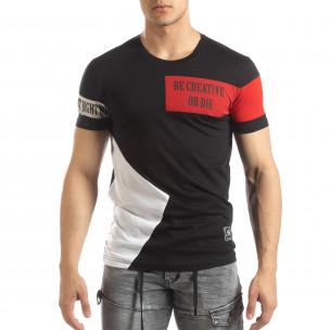 Tricou pentru bărbați negru Be Creative