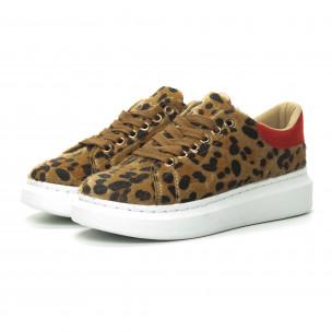 Teniși de dama leopard cu călcâi roșu 2
