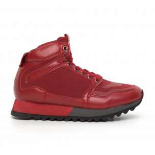 Pantofi sport înalți roșii pentru bărbați Montefiori