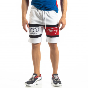Pantaloni scurți de sport albi GOOD pentru bărbați