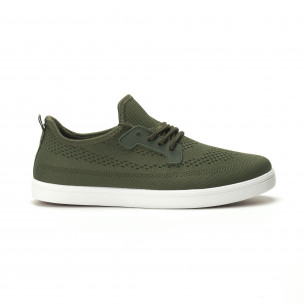 Pantofi sport ușori în verde militar pentru bărbați