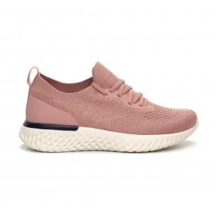 Pantofi sport roz ușori de dama tip șosetă