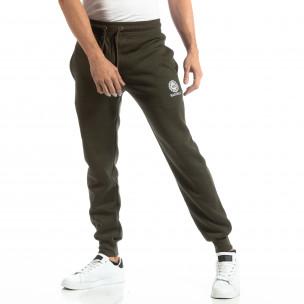 Pantaloni sport verzi groși pentru bărbați