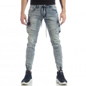 Washed Cargo Jeans pentru bărbați  2