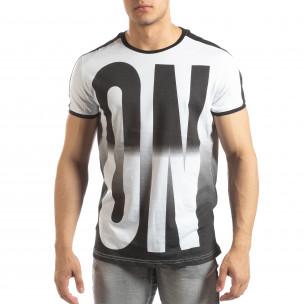 Tricou alb ON/OFF pentru bărbați