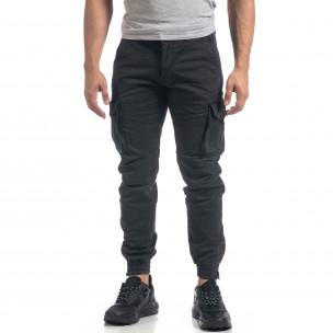 Pantaloni cargo gri flaușați pentru bărbați