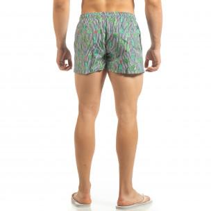Șort de baie albastru pentru bărbați design Cactus 2