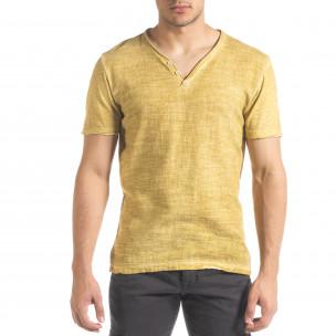 Tricou bărbați Ficko galben