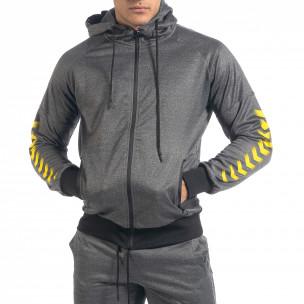 Set sportiv de bărbați gri cu accente galbene 2