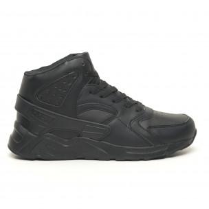 Adidași înalți ușori All black pentru bărbați Naban