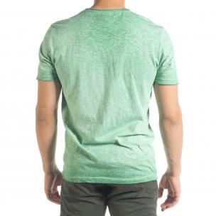 Tricou bărbați Ficko verde  2