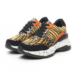 Pantofi sport de dama design Patchwork cu leopard 2