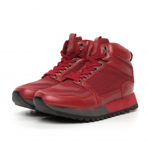 Pantofi sport înalți roșii pentru bărbați Montefiori 2