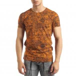 Tricou de bărbați Vintage în portocaliu