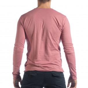 Bluză în roz V-neck pentru bărbați  2