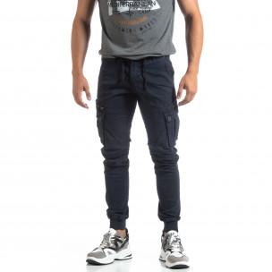 Pantaloni Cargo Jogger albaștri pentru bărbați 2