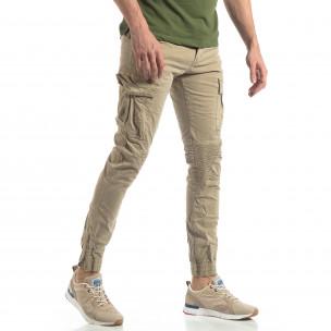 Pantaloni cargo bărbați XZX-Star bej XZX-Star