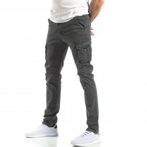 Pantaloni cargo bărbați Accross albaștri Accross 2