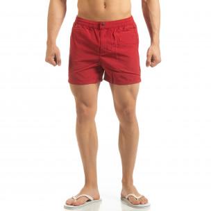 Costum de baie roșu pentru bărbați