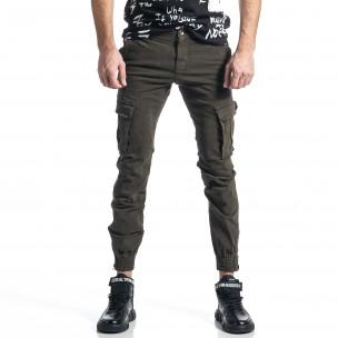 Pantaloni cargo bărbați G-9 verzi