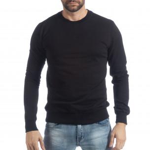 Bluză Basic neagră pentru bărbați