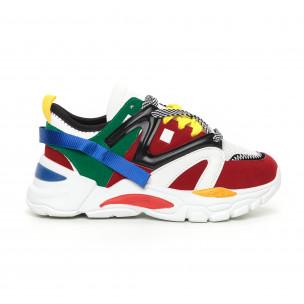 Pantofi sport de dama colorați design Chunky