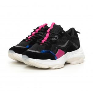 Pantofi sport de dama combinați cu accente 2