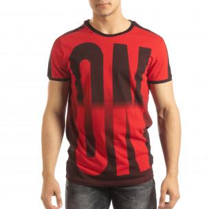 Tricou roșu ON/OFF pentru bărbați