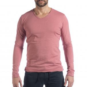 Bluză în roz V-neck pentru bărbați