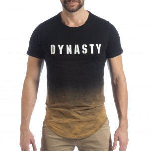 Tricou negru Dynasty pentru bărbați  2