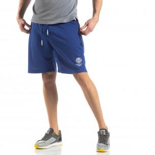 Pantaloni sport scurți în albastru deschis pentru bărbați
