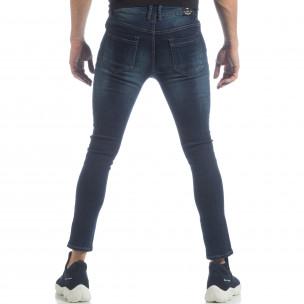 Skinny Jeans de bărbați model clasic albaștri  2