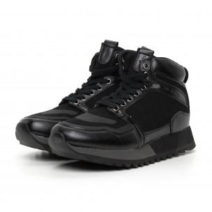 Pantofi sport înalți negri pentru bărbați  2