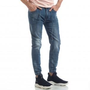 Jogger Jeans albastru pentru bărbați