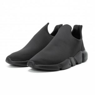 Adidași slip-on All black din neopren pentru bărbați 2