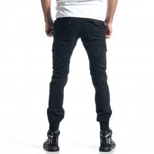 Pantaloni cargo bărbați G-9 negri 2