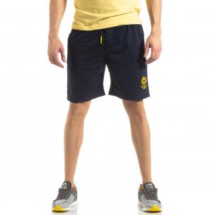 Pantaloni sport scurți în albastru închis de bărbați