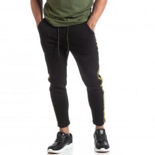 Pantaloni de trening drepți negri pentru bărbați  2