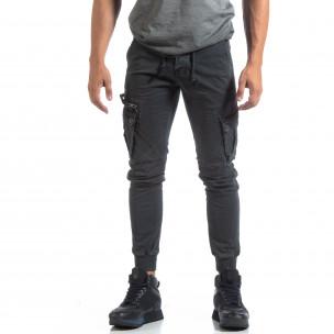 Pantaloni Cargo Jogger gri pentru bărbați 2